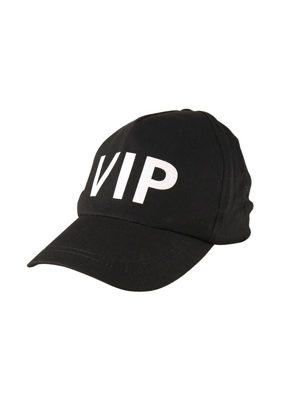 Black Cap VIP Hat - Adult Fancy dress - Party Accessories - Hollywood