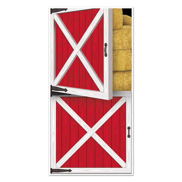 Barn Door Plastic Door Cover - 76 x 152 cm Wild West Party Decorations - Western