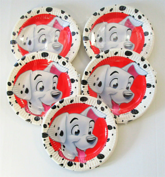 Pack of 40 Disney 101 Dalmatians 20 cm Paper Plates - Party Tableware
