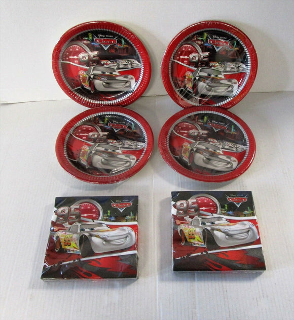 Silver edition Disney Cars Party Tableware Pack for 32 - Plates and Napkins