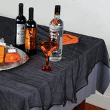 Black Cheesecloth Tablecover - 150 cm x 210 cm - Halloween Tableware Table Cover