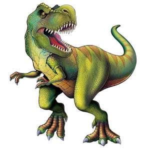 Large Tyrannosaurs Rex Jointed Cutout - T-Rex - Dinosaur Party Decorations
