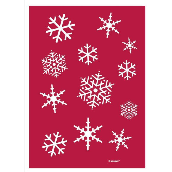 Pack of 100 Sparkle Snowflake Treats Bags - Frozen Christmas Party Bags