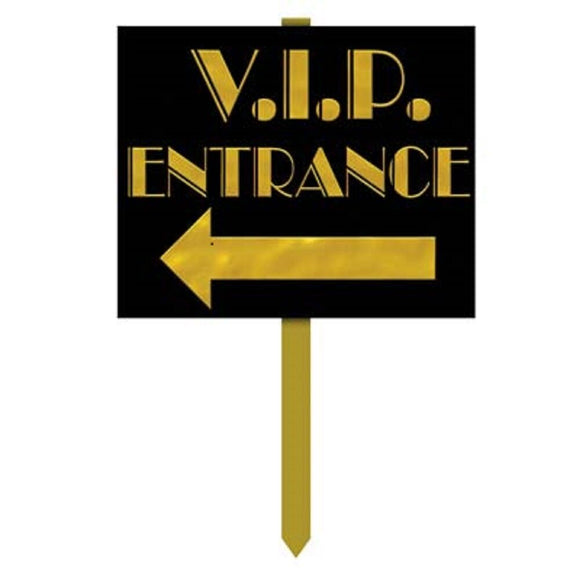 V.I.P Entrance Yard Sign - Hollywood Party Decorations VIP lawn signs 12