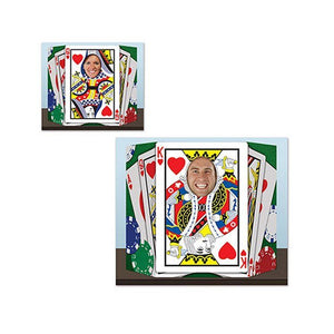 Royal Flush Photo Prop - 94 x 64 cm - Casino Card Suit Party Cutouts & Standins