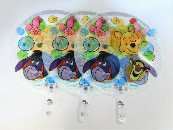 Pack of 3 Disney Winnie The Pooh Clear Holographic 18