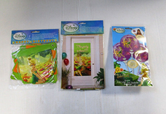Tinkerbell party Decorations pack - Disney Fairies - Balloons Door Banner etc