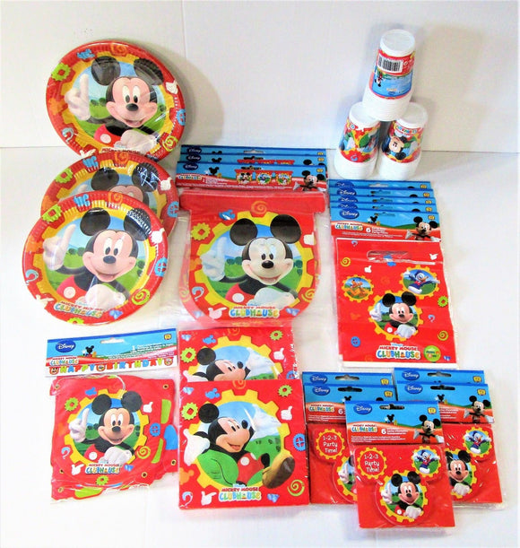 Mickey Mouse Clubhouse Party Pack For 30 People - Complete Childrens Party Pack