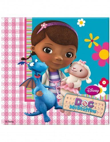 Pack of 20 Doc McStuffins Paper Luncheon Napkins - Disney Party Tableware