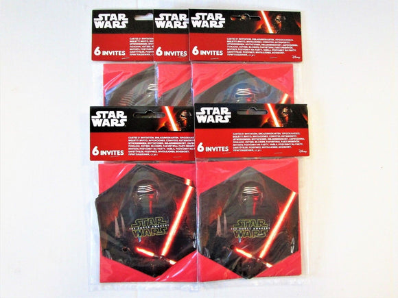 Pack of 30 Star Wars The Force Awakens Invitations - Disney Party Invites