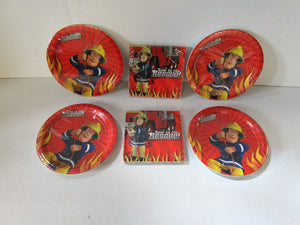 Fireman Sam Party Tableware Pack for 32 - Plates and Napkins