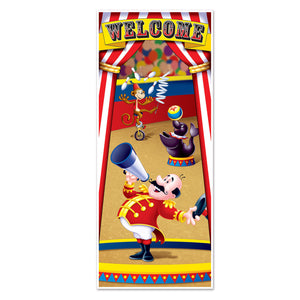 Circus Tent Plastic Door Cover Decoration - 76 cm x 183 cm - Party Decorations