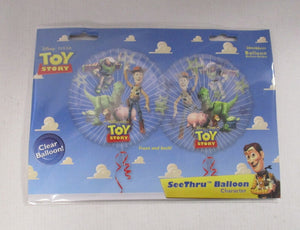 "Disney Pixar Toy story  26"" Clear Helium Balloon - Buzz Lightyear Woody"