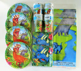 Dinosaur Party Tableware Pack for 32 People - Plates Cups Napkins Table Covers
