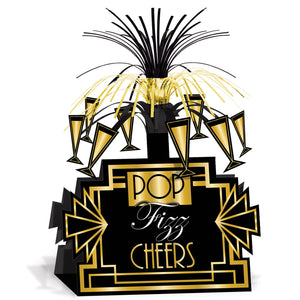 Great 20's Table Centerpiece - Pop Fizz Cheers 1920's Party Tableware Decoration