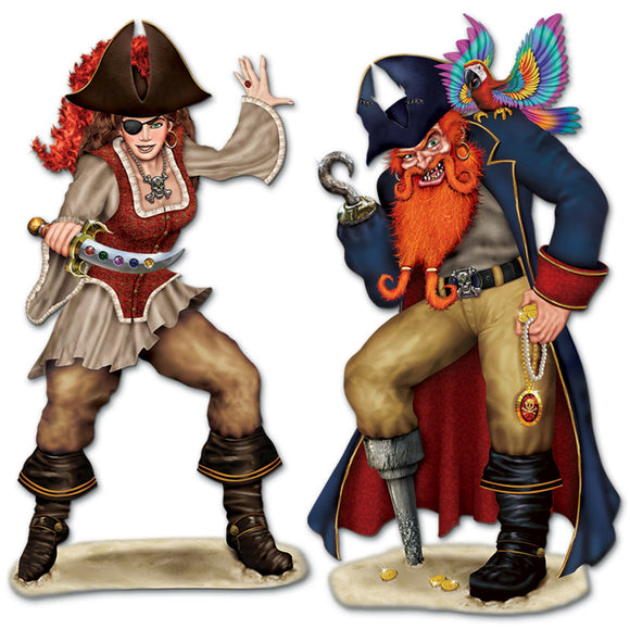 Bonny Blade & Calico Jack Scene Setter add on - Tropical Pirate Party Decoration