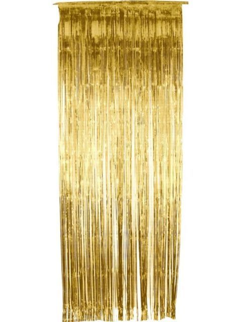Pack of 50 Gold Shimmer Foil Door Curtain decorations - Christmas Party Curtains