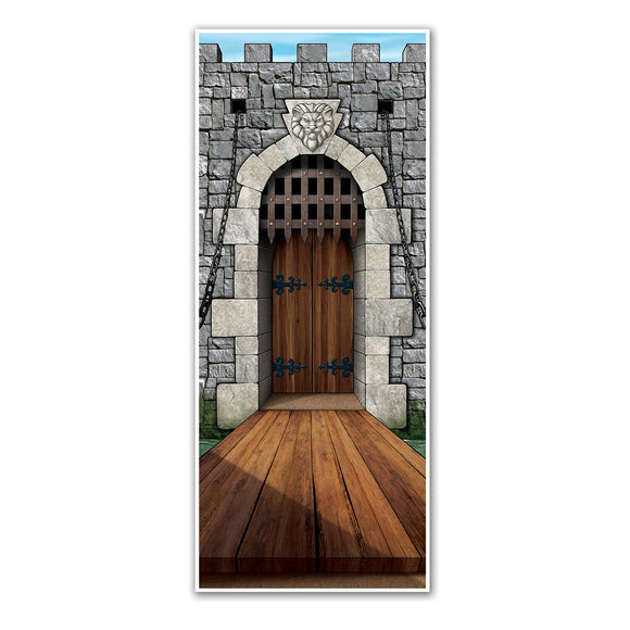 Castle Plastic Door Cover - 76 cm x 183 cm - Medieval Party Decorations