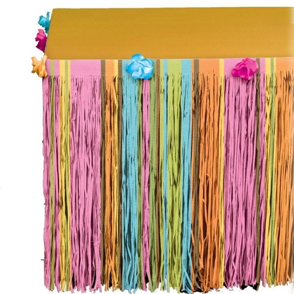 Tropical Hawaiian Tiki Tissue Table skirt - Luau Party Tableware Decorations