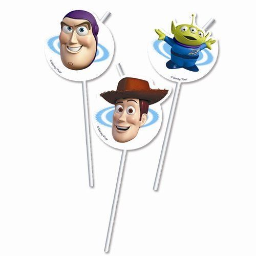 Pack of 6 Toy Story Drinking Straws - Disney Pixar Party Tableware