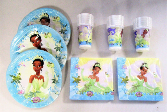 Disney Princess & The Frog Party Tableware for 30 People - Plates Cups Napkins