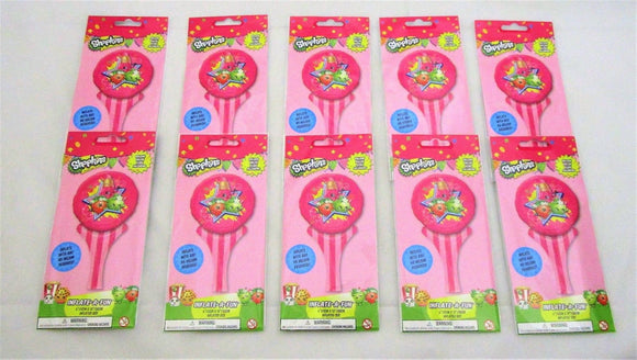 Pack of 10 Shopkins Inflate a fun Balloons -15 cm x 30 cm - Party bag Fillers