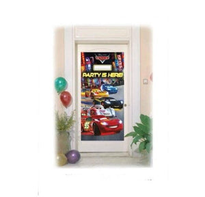 Disney Pixar Cars Plastic Door Cover - 76 cm x 152 cm - Party Banner Decorations