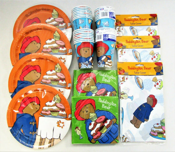 Paddington Bear Party Tableware Pack for 32 - Plates Cups Napkins Table Cover
