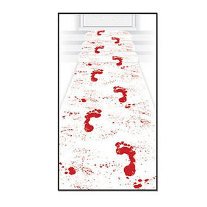 Bloody Footprints Floor Runner - 61 x 310 cm - Halloween Party Carpet Decoration