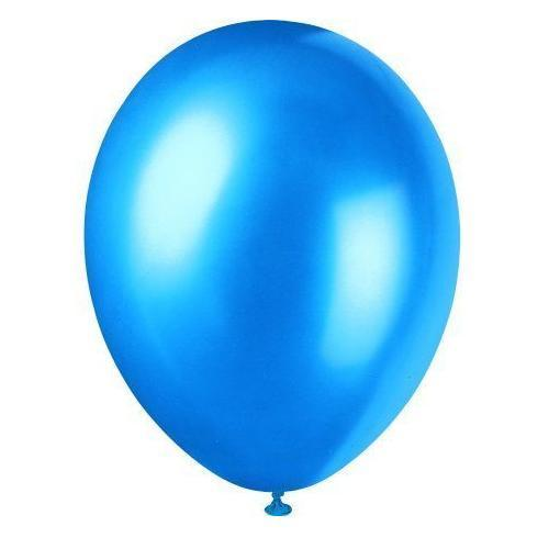 Pack of 8 Cosmic Blue Pearlised 12 inch Balloons - Party Balloon