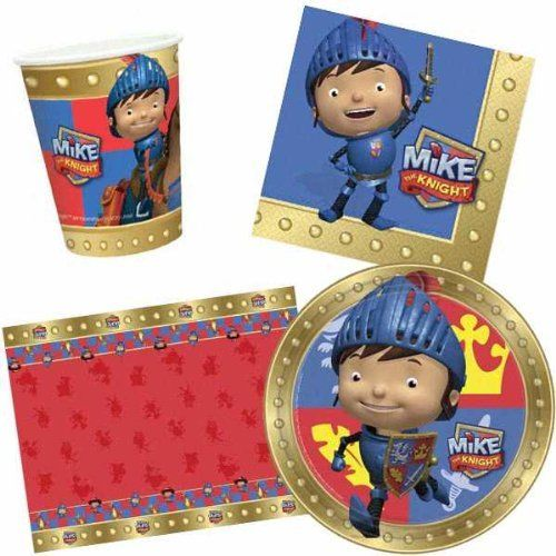 Mike The Knight Tableware Party Pack for 8 - Medieveal Cups Plates Napkins etc