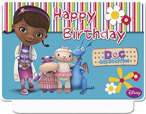 Doc McStuffins Happy Birthday Decor Candle - Disney Party Cake Candles