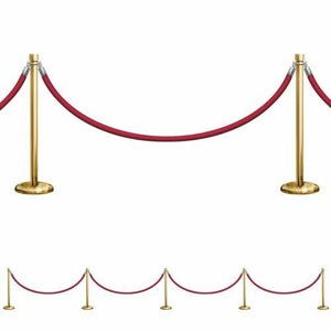 Stanchions 2D Wall Decoration - 21ft Long - Hollywood Party Decorations