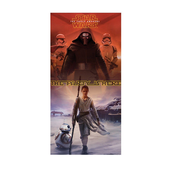 Star Wars The Force Awakens Door Banner - 75cm x 150cm - Party wall Decorations