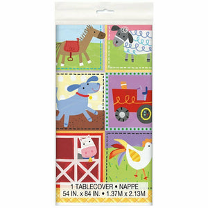 Farm Animals Plastic Table Cover - 137 cm x 213 cm - Party Tableware
