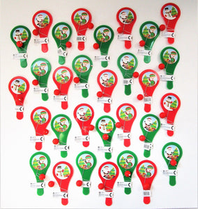 Pack of 30 Christmas Bat and Ball Games - Xmas Party Stocking Fillers