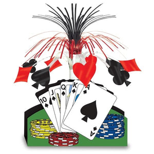 Playing Card Centerpiece - Poker & Las Vegas Casino Night Tableware Decorations