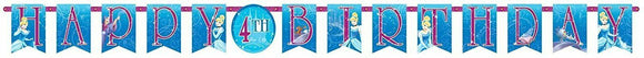 Cinderella Disney Princess Add an Age Letter banner - Party Decoration Kit