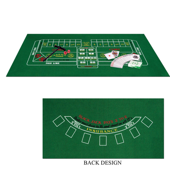 Blackjack & Craps Set - Casino Party Games - Home Casino Kit - Party Decorations
