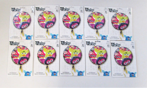 Pack of 10 Furby Foil Helium Balloons - 17 in (43 cm) - Kids Party Balloon