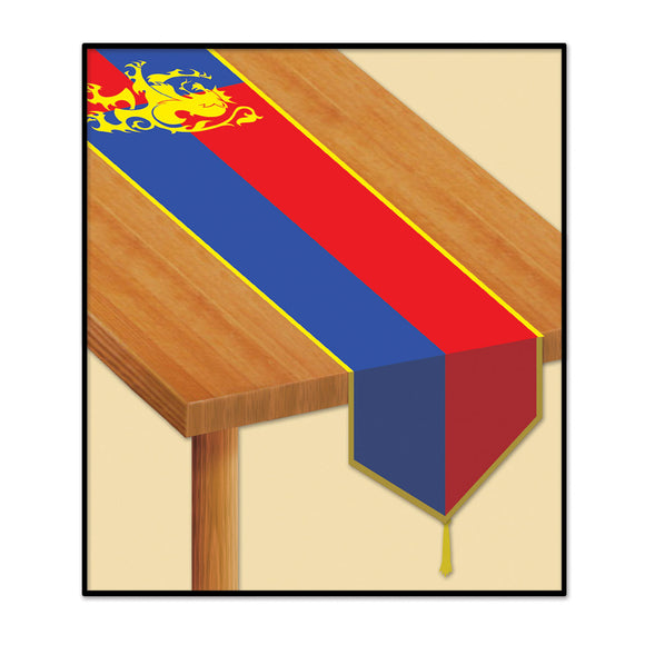 Medieval Table Runner - 180 cm - Knights & Castle Party Tableware Decorations