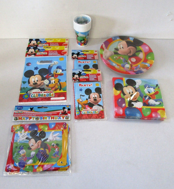Mickey Mouse Party Pack For 10 People - Complete Childrens Party Pack