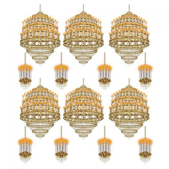 14 Piece Ballroom Chandelier Add On wall Decorations - Hollywood Casino Party