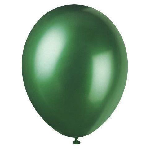 Pack of 8 Evergreen Pearlised 12 inch Balloons - Party Balloon