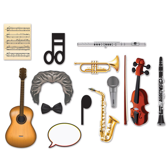14 Pieces Music Photo Fun Signs - Musical Photo Props Party Decorations