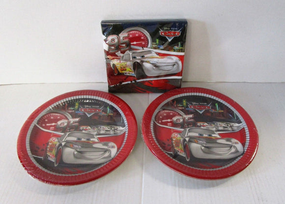 Silver edition Disney Cars Party Tableware Pack for 16 - Plates and Napkins
