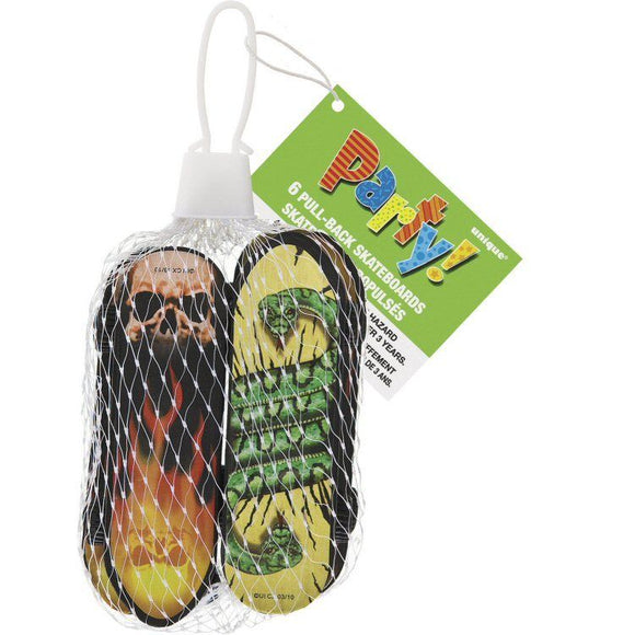 18 Pull Back Skate Boards - Party Bag Fillers Toys Favours - Stocking Fillers