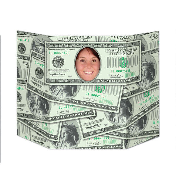 Million Dollar Bill Photo Prop - 94  x 64 cm - Hollywood & USA Party Decorations