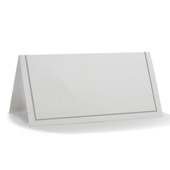 Pack of 50 Silver Classic Placecards - Christmas Party Place Cards