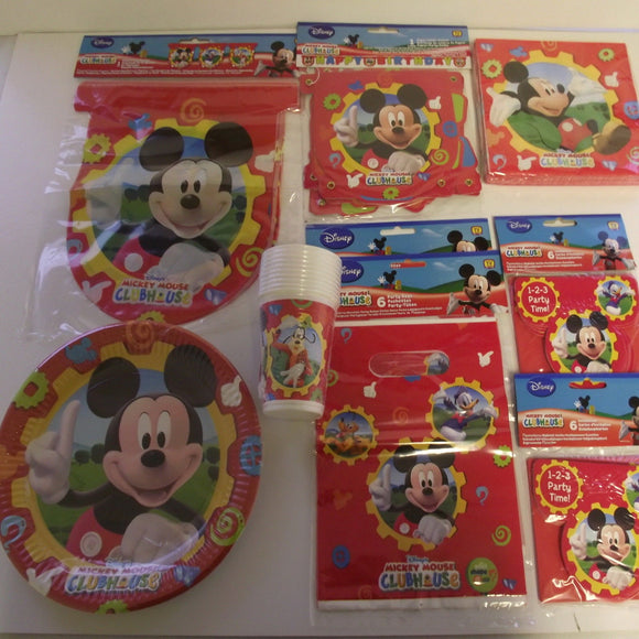 Mickey Mouse Clubhouse Party Pack For 10 People - Complete Childrens Party Pack